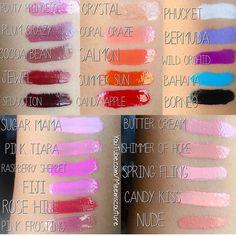 Gerard Cosmetics Lipgloss Swatches
