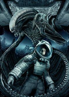 Xenomorph Types, Alien 1979, Alien Covenant, Alien Concept Art, Aliens Movie, Fantasy Fiction, Fantasy Art, Art Corner, Alien Art