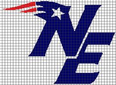 New England Patriots Crochet Graphghan Pattern (Chart/Graph AND Row-by-Row Written Instructions)