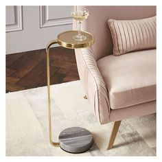 West Elm Murray Drink Table, Gray Marble/Antique Brass ($99) ❤ liked on Polyvore featuring home, furniture, tables, accent tables, west elm side table, west elm table, west elm, gray end table and gray side table