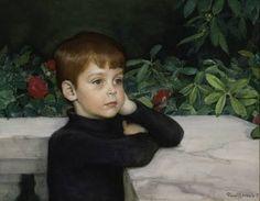 Taiteilijan pojan Heikki Järnefeltin muotokuva 1897