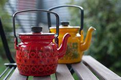 Enamel coffee pots