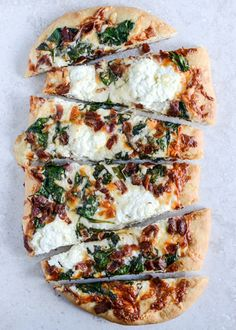 White Pizza With Bacon And Spinach