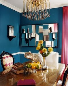 Like the wall color, for one wall. To make it pop @BrightNest blog.