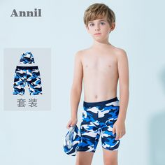 b626244fdc Annai children's clothing boys swimwear suit boxer swimming trunks 2019  summer new boys baby comfortable shorts