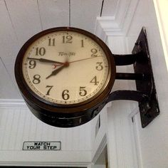 Our Double Sided Old Town Wall Clock Has A Distressed