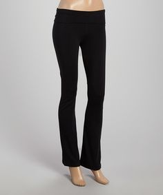 Loving this Black Yoga Pants on #zulily! #zulilyfinds