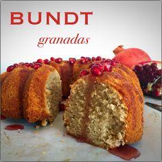 Bundt de granadas sin gluten. Gluten free pomegranate bundt. Receta en el enlace.