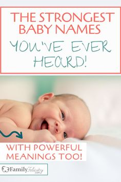 These strong baby names are cool and lovable and the best part is their powerful meanings! Looking for strong and powerful baby names for your new baby? This list of cool and strong names with the absolute best baby name meanings too! Baby Names Uk, Cute Baby Boy Names, Baby Names Short, Strong Baby Names, Names Girl, Baby Names And Meanings, Names With Meaning, Cool Boy Names, Powerful Boy Names
