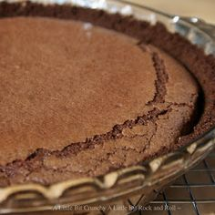 A Little Bit Crunchy A Little Bit Rock and Roll: 3.14159.... Chocolate Chess Pie