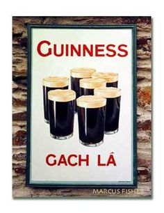 Gunness Sign, Gach lá, (every day), Clonakilty, County Cork, Ireland