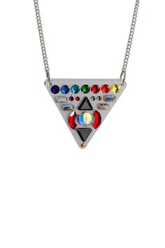 Misson Control Triangle Necklace