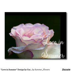 """Love in Summer"" Design by Carole Tomlinson Postcard"