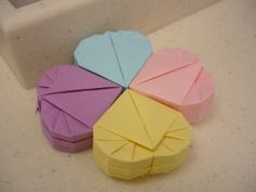Lesson 4 & 5 Origami Heart Gift Box and Origami Bowl