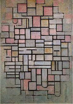 """ENTRE la revue artistique créative // nO11 """"Arbres"""" // ENTREmêler // Piet Mondrian, """"Composition n°6"""", 1914 // www.revue-entre.fr"""