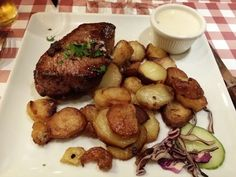 """See 9 photos and 6 tips from 143 visitors to Le Mistral. """"Great Pavé de Boeuf with truffade! Paris Itinerary, Beef, Food, Ile De France, Meals, Yemek, Steak, Eten"""