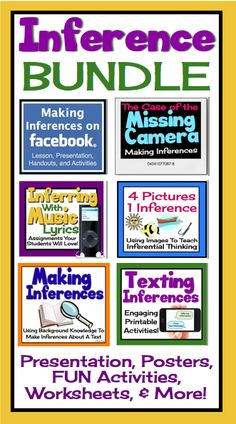 Best-Selling Inference Bundle!  Tons of printable activities to get your students thinking inferentially (Common Core)
