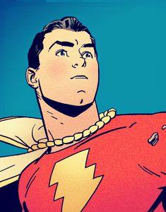 Shazam in Convergence - Evan Shaner Original Captain Marvel, Captain Marvel Shazam, Marvel Vs, Marvel Comics, Comic Book Artists, Comic Books Art, Comic Art, Mary Marvel, Dan Mora