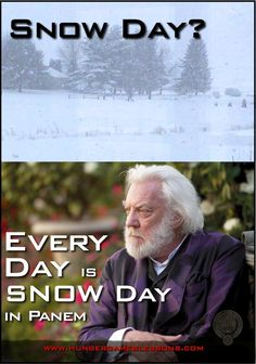 Snow day? Every day is Snow Day in Panem. @Kristen - Storefront Life Weirich @President_Snow #HungerGames