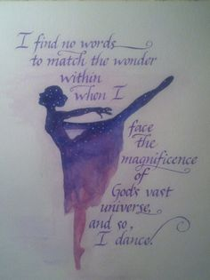 PRINT And So I Dance Watercolor/Calligraphy by FaeryWeather, $25.00