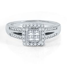 Helzberg Diamond Symphonies® 1/2 ct. tw. Diamond Engagement Ring in 10K Gold available at #HelzbergDiamonds