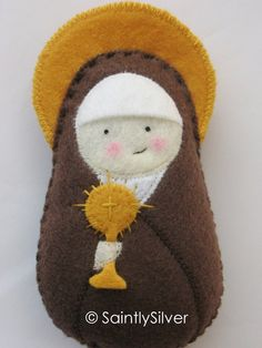 Saint Clare of Assisi Felt Saint Softie.