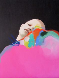 Suffocating. Oil on canvas by Andrea Castro