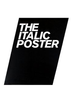 the Italic poster... so simple n' perfect!