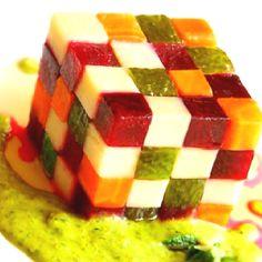 Rubics cube food...Jason's addiction.