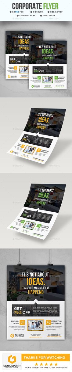 220 Best Business Flyer Reference Images On Pinterest In 2018