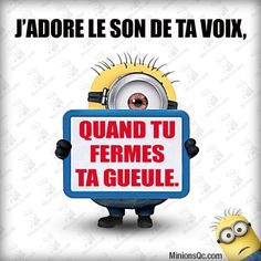 The sound of your voice . acid a day texts animal humor minion photos pics pictures sports pictures quotes Emoticons Text, Funny Emoticons, Funny Cartoon Memes, Funny Texts, Funny Jokes, Funny Minion, Epic Texts, Funny Quotes Wallpaper, French Quotes