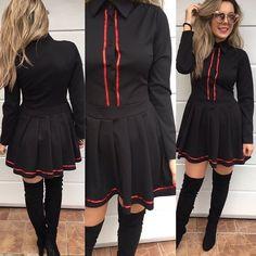 Šatičky do A z kvalitného materiálu  sukňa si krásne drží svoj tvar UNI 2490 IHNEĎ K ODBERU  #new#newcollection#tvojstylfashion