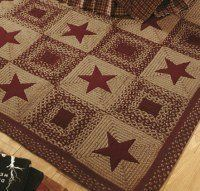 Ihf Braided Rectangle Area Accent Rug Applique Country Star Wine For By Vhd Retail