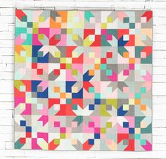 Corner Lot Quilt Kit featuring Boundless Call Me Contemporary Solids Fabric | Craftsy