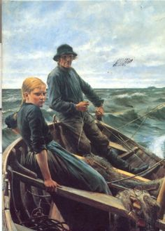 Albert Edelfelt, At Sea, (1883)