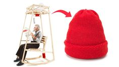 Is there anything more relaxing than the back and forth motion of a comfy rocking chair? Of course there is—rocking while sporting a stylish knit cap you made yourself, which is made all the more easy with this rocking chair knitting machine.