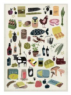 Martin Haake print / tea towel