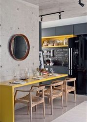 Geel in het interieur - Residence