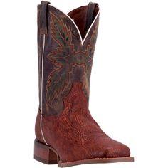 Dan Post Men's Cognac & Tan Clark Cowboy Boots - HeadWest Outfitters