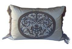 French Metallic Embroidered Pillow on OneKingsLane.com