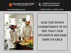 Our vision and mission is to make students employable! #LakshayCollegeofHotelManagement Visit: http://www.lchm.lakshay.edu.in or call- 98964-13400, +91-99960-51000 for details.