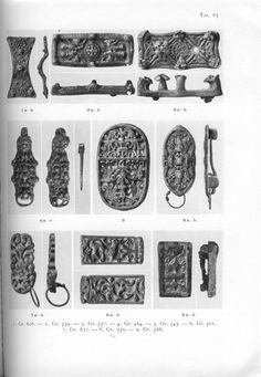 Birka grave 632 - Holger Arbman - Birka I. Brooches. 6 - grave 501; 7 - grave 632.