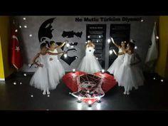 Era Schools, of November Commemoration of Atatürk. November, Kids And Parenting, Sewing Projects, Preschool, Youtube, Flower Girl Dresses, Organization, Books, Music School