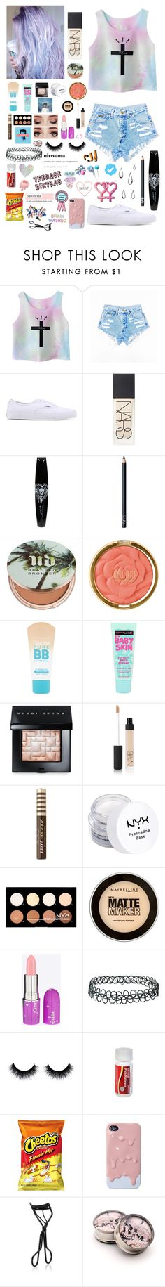 """""""Don't wanna be an American idiot..."""" by emo-kyleigh ❤ liked on Polyvore featuring Chicnova Fashion, Vans, NARS Cosmetics, Urban Decay, Milani, Maybelline, Bobbi Brown Cosmetics, Too Faced Cosmetics, NYX and Lime Crime"""