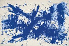 Yves Klein Artist Painting Large Blue Anthropometry 1960 dry pigment and synthetic resin on paper mounted on canvas. x Collection Guggenheim Bilbao Solomon R. Guggenheim Museum New York Robert Motherwell, Action Painting, Jackson Pollock, Musée Guggenheim Bilbao, International Klein Blue, Rose Croix, Yves Klein Blue, Lapo Elkann, Museums In Nyc