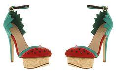 Office Ooh La La watermelon platform shoes. NEED!