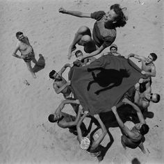 Fun on the beach, California, United States, 1948, photograph by John Florea.