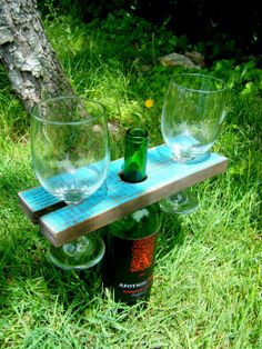 Absolutely fantastic for spring/summer picnics!   Great way to dress up the occasion. Reclaimed  Wood Wine Bottle Rack Wine Bottle Rack by UrbanOakGoods, $14.99