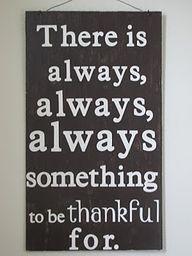 Be Thankful in Rain or Shine