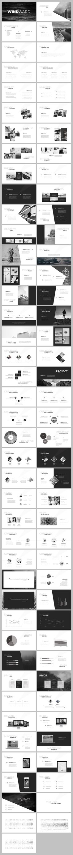 WindWard #PowerPoint #Template by SlideStation on @creativemarket